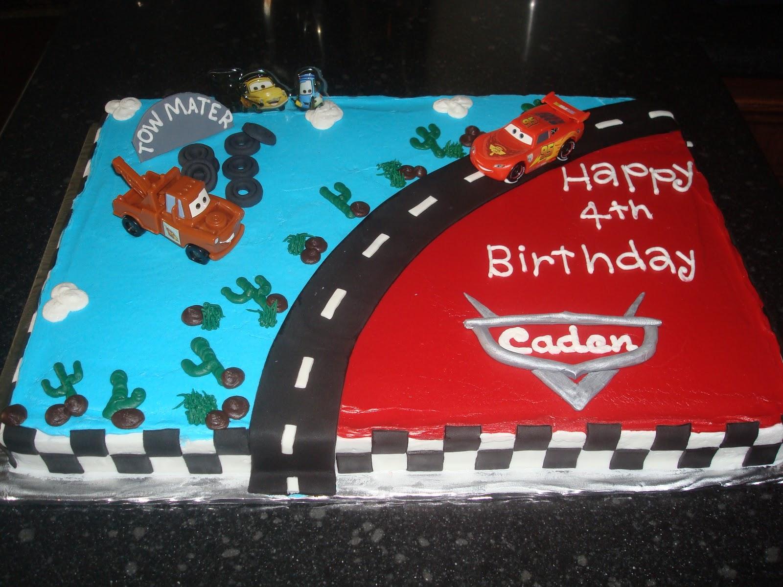 Sugar Boo Sweets Happy Birthday Caden Cars Cake