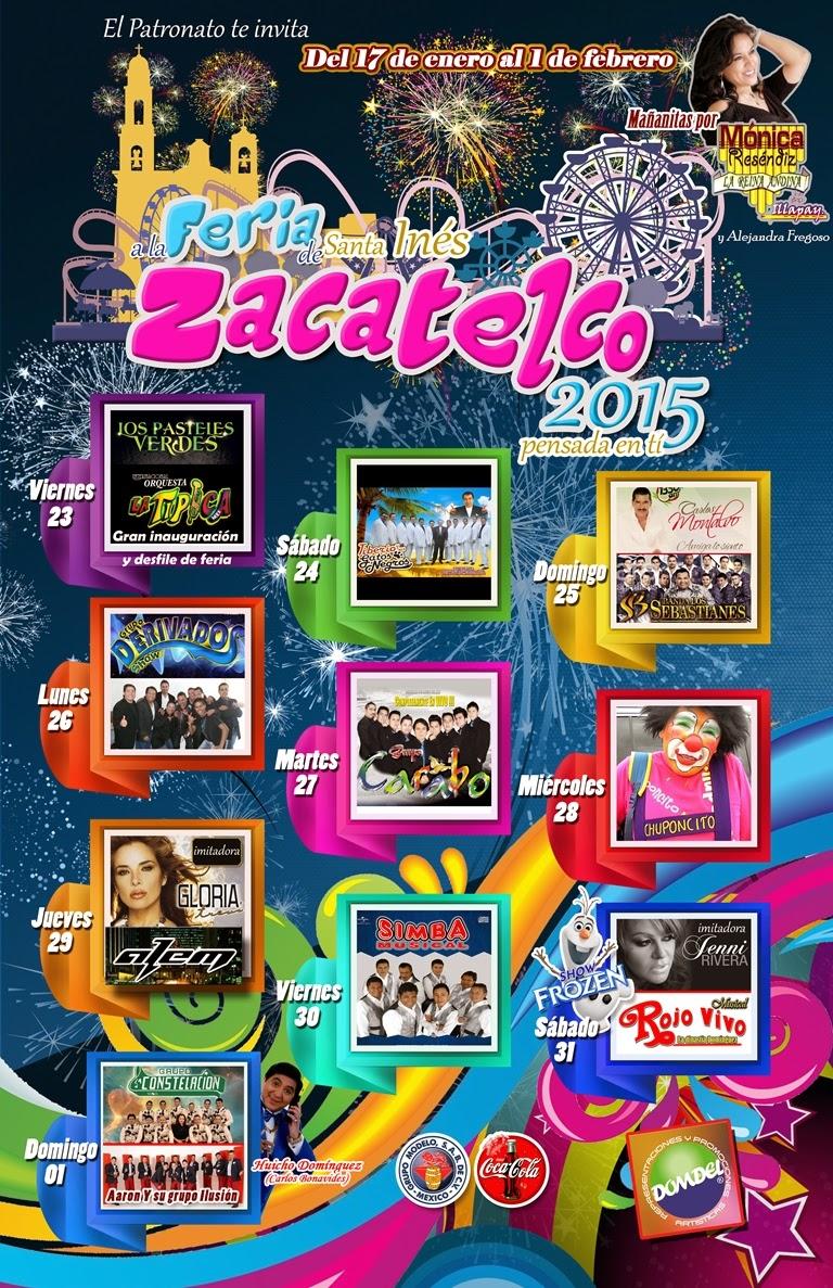 Programa feria zacatelco 2015 tlaxcala