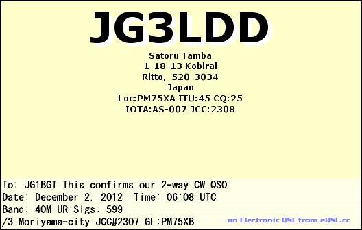 JG3LDD