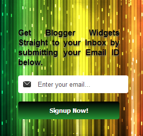 Colorful Raining Email subscription Box Widget For Blogger