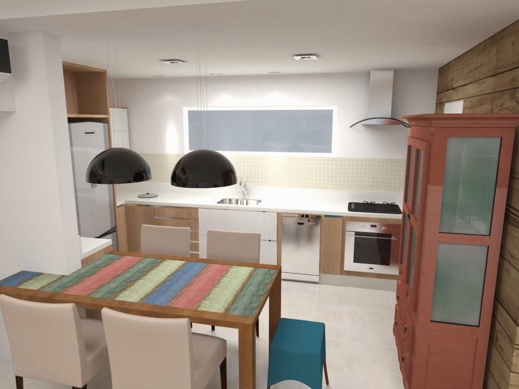 mesa divide a cozinha e a sala ganhou destaque no projeto em  #25505B 1024 768