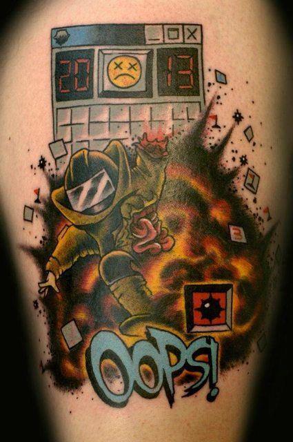 brutal campo minado tattoo via nerdingow