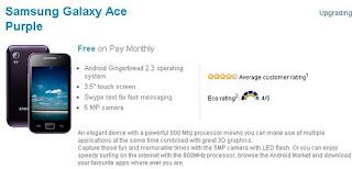 Samsung Galaxy Ace Purple available via O2 UK