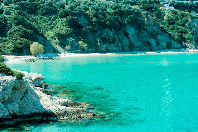 The Most Popular Bay Of Istron Is Located 500m East Of The Village. Here Is  One Of The Most Beautiful Beaches Of Greece, Which Is Featured In Many Card  ...