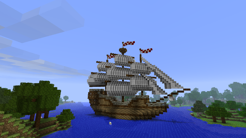 Costruzioni Minecraft Nave pirata