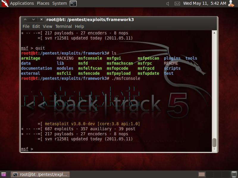 Using nmap  zenmap on backtrack 5 r1