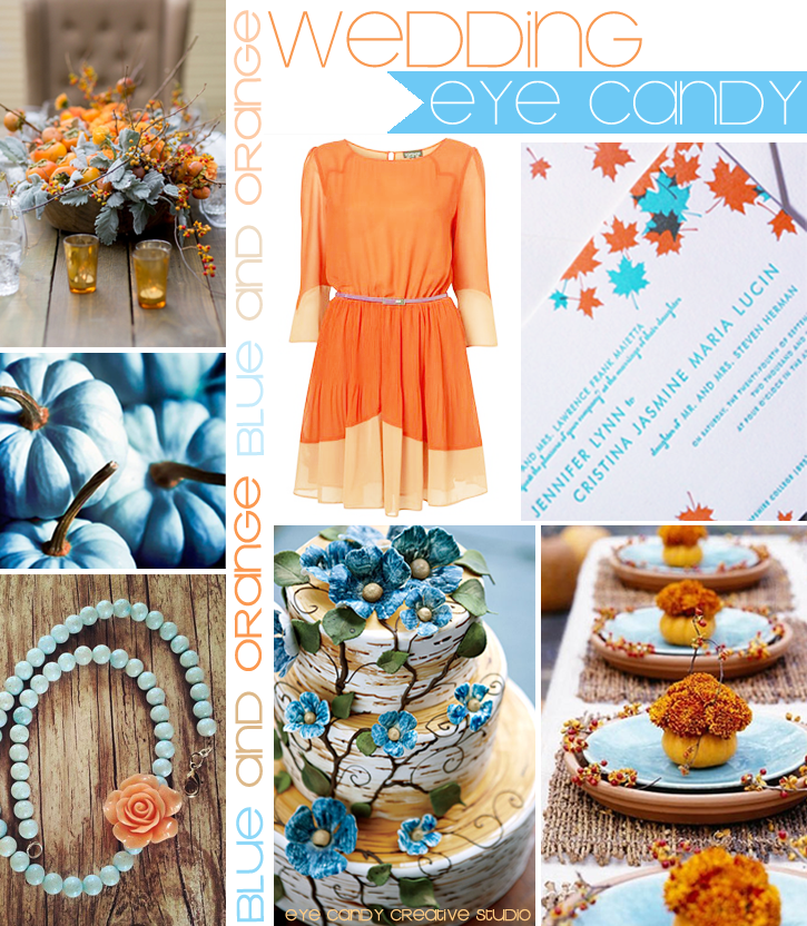 blue pumpkins, fall flowers, bridesmaid dress idea, wedding invite, place setting