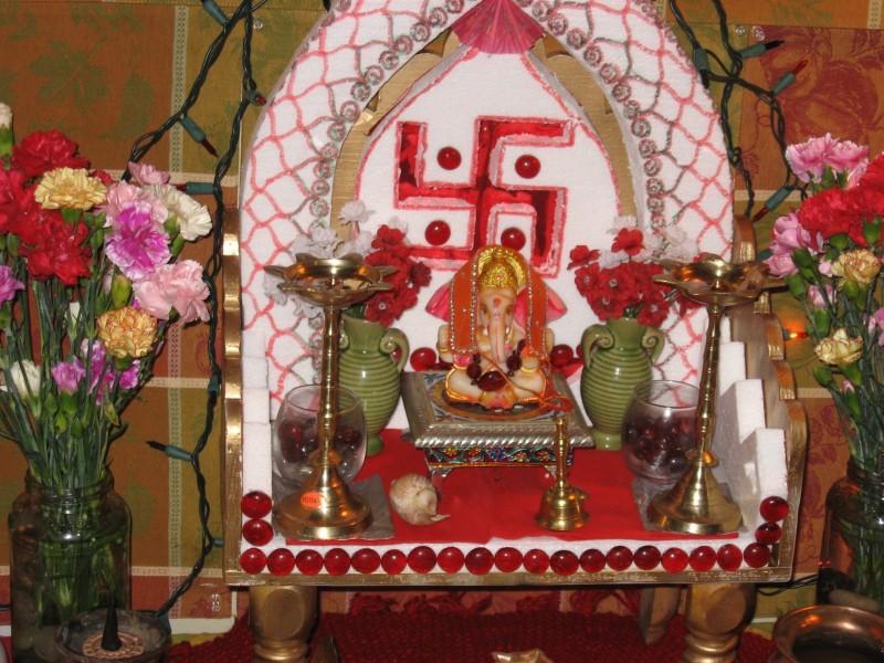 desikalakar ganpati decorations for the ganpati festival celebrations
