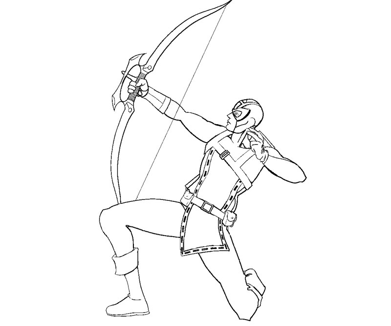 Hawkeye Coloring Coloring Pages
