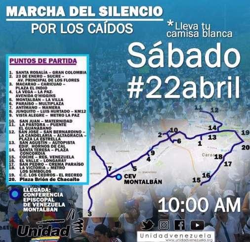 Marcha Del Silencio #22Abr @UnidadVenezuela