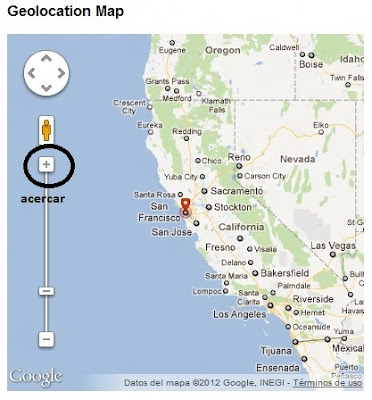 Ubicacion exacta en el mapa