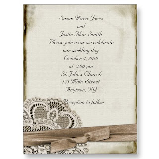 Old Fashioned Wedding Shower Invitations
