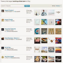 Etsy Treasury by Working Artists Team 1