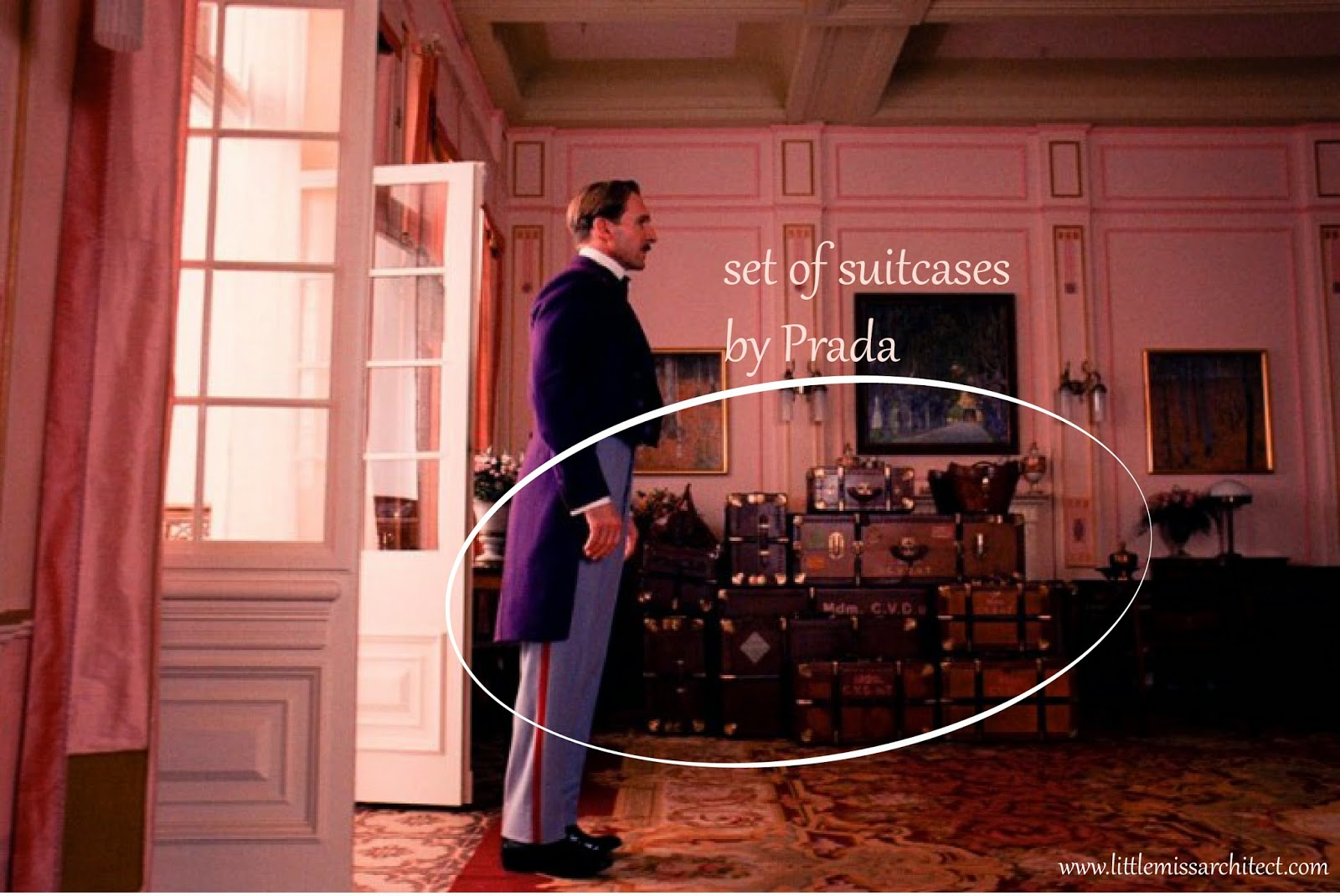 Grand Budapest Hotel, Prada suitcases. set design