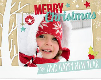 Happy baby Personalized Religious christmas cards