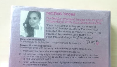 Tanya Burr Perfect Brow Brow tips
