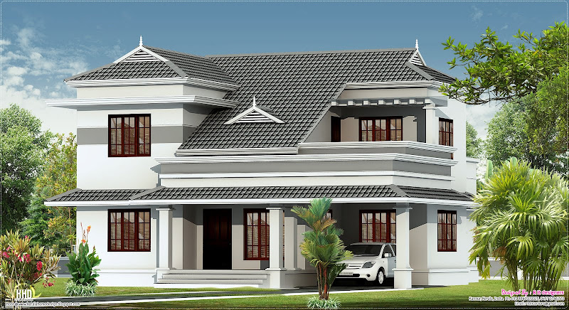 bedroom villa design by r it designers kannur kerala title=