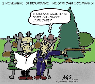 2 novembre, umorismo, vignetta