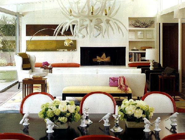 Interior Decor Blogs Inspiration With Antler Chandelier Interior Design Picture