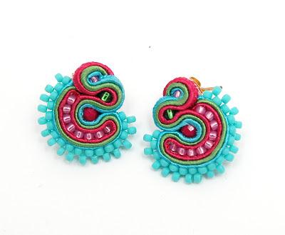 kolczyki sutasz soutache earrings 45