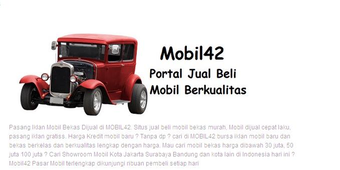 Mobil bekas & baru Jakarta hari ini jualmobilbekas.hol.es 2015