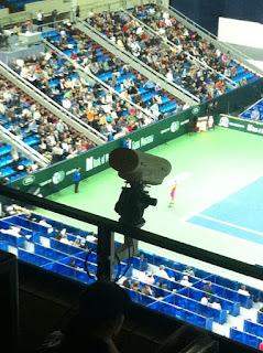 Gol çizgisi teknolojisi denemelerine bir örnek teniste kullanılan Hawk-Eye teknolojisi. Fotoğraf: Wikimedia Commons