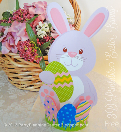 Easter Bunny Basket Template Printable