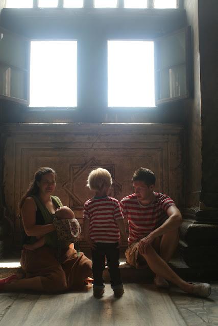 Julia, Chris, Anton and Neve in the Hagia Sophia.