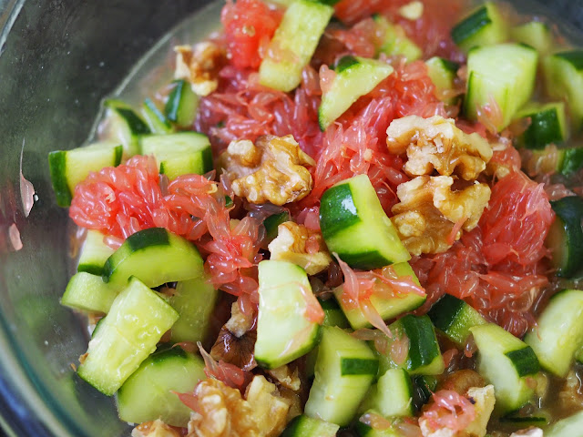 Simple everyday food grapefruit cucumber salad for Good side dishes to serve with a fish fry