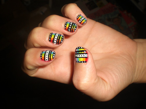 The Excellent Colorful nail art designs Photo