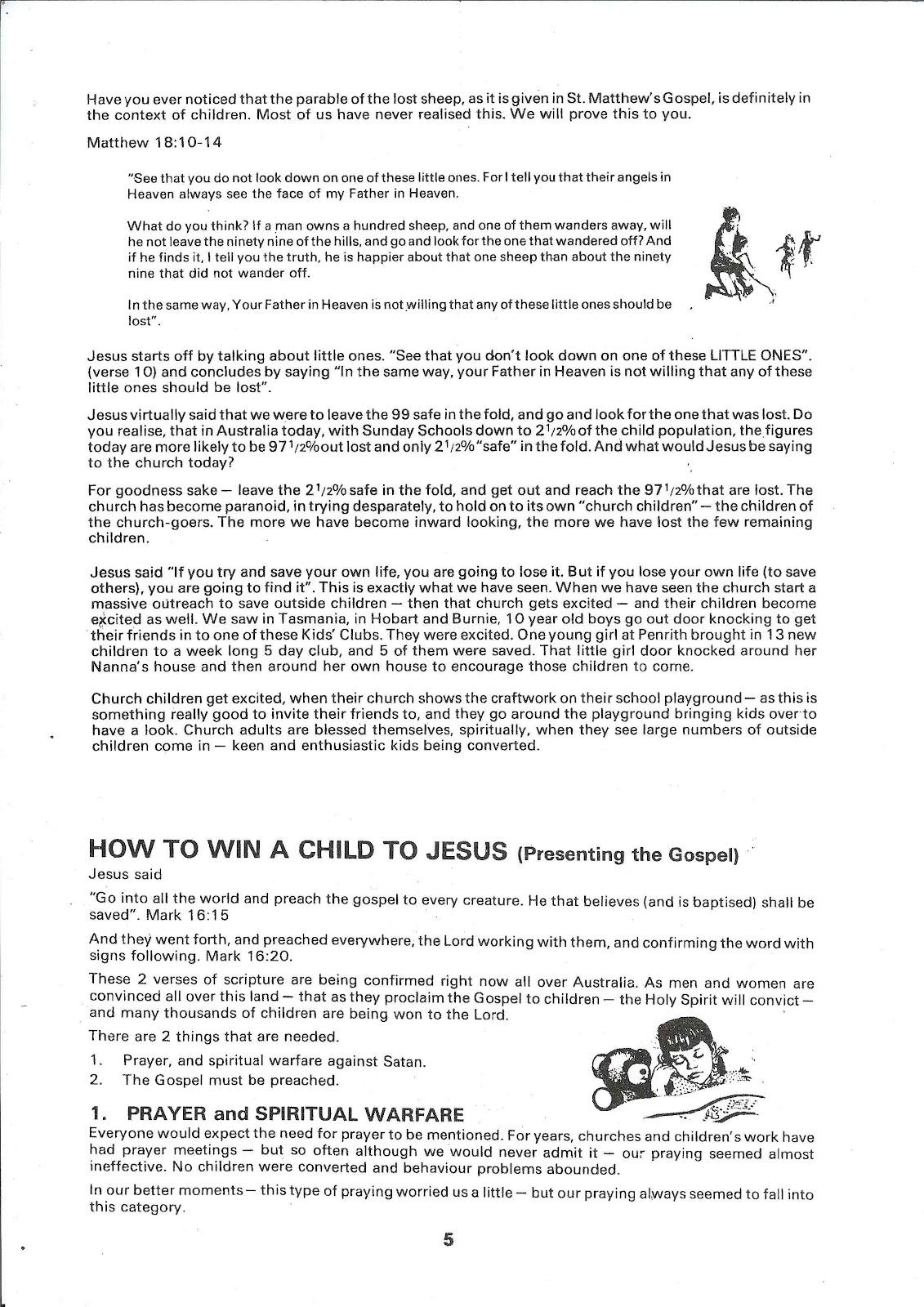 children for christ training seminar notes
