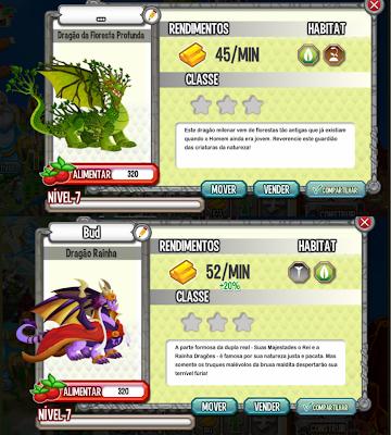 Dragão da Floresta Profunda e o Dragão Rainha