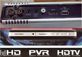 Set Top Box Polytron DVB-T2 EWS