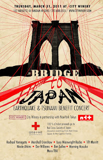 Bridge to Japan: City Winery Hosts Earthquake and Tsunami Benefit on March 31st