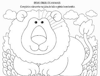 Desenhos Para Colorir Piu-Piu Tigre, Rinoceronte e leão