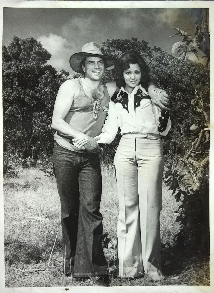 Dharmendra and Hema Malini 1976