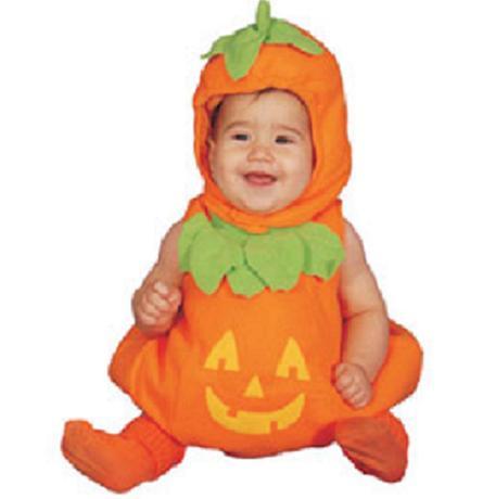 Beb s con disfraz de calabaza halloween - Disfraces halloween calabaza para ninos ...