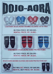 DOJO-AORA BOXING GLOVES AND SHIN PROTECTORS