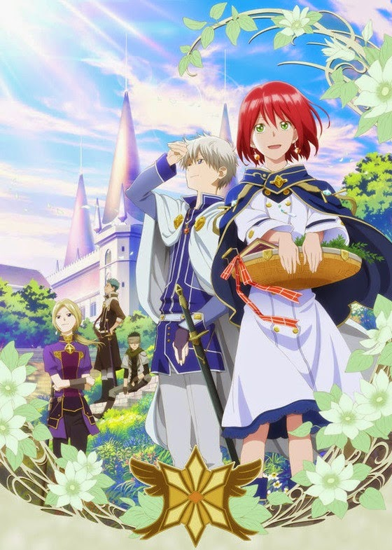 Plakat promujący anime Akagami no Shirayuki-hime