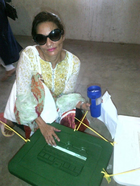 Fareeha Altaf - Pakistan Celebrities voted for Pakistan