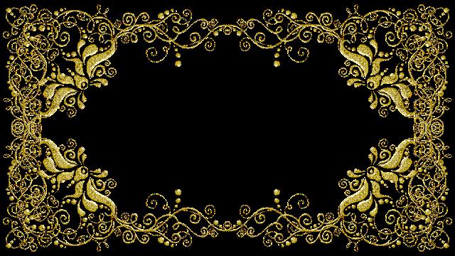 Molduras arabescos dourados 23 png