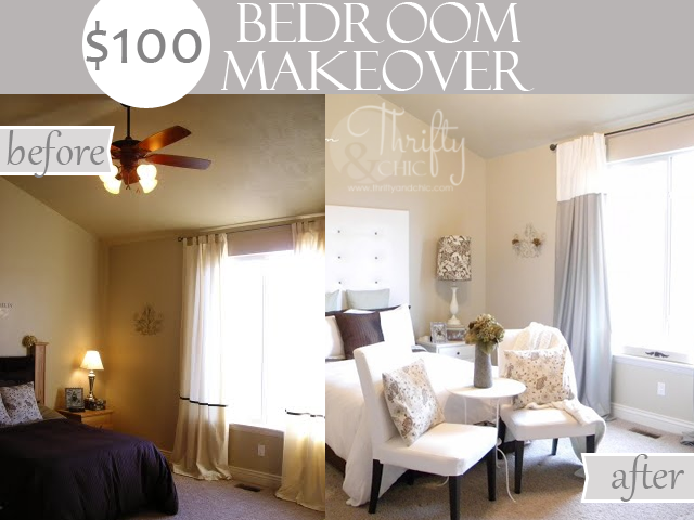 $100 Bedroom Makeover with tutorials