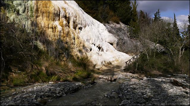 Fotografia del Fosso Bianco a Bagni San Filippo