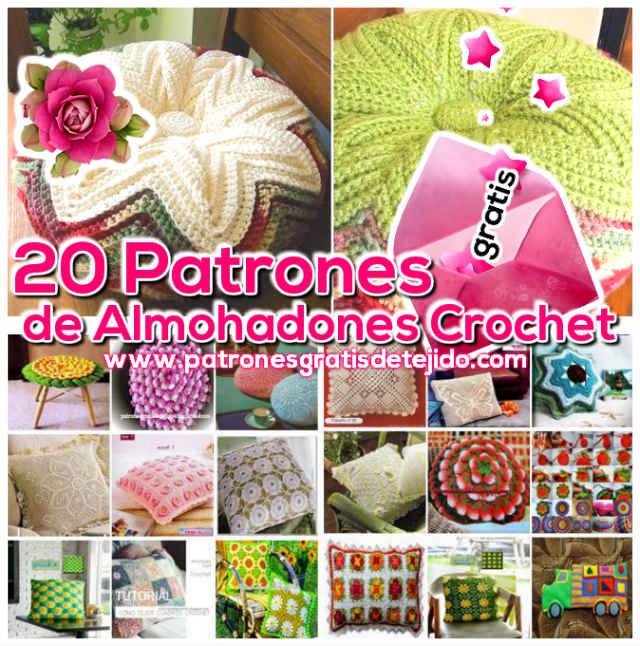 21 patrones de almohadones para tejer al crochet