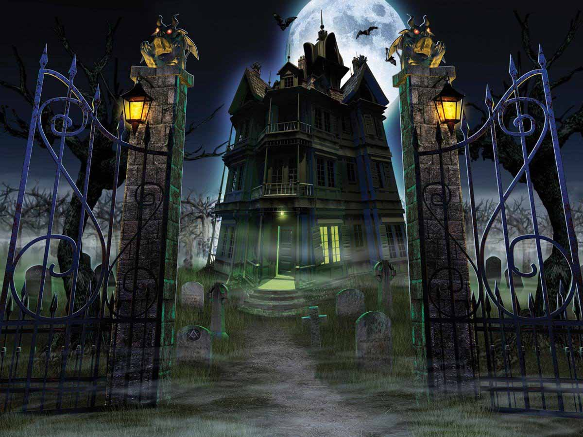 haunted house wallpaper - photo #24