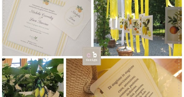 Matrimonio Tema Limoni : Cartabianca wedding happy event design matrimonio