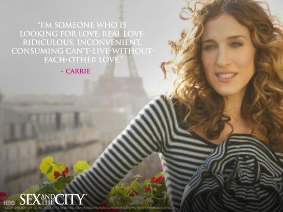 Sex and the City, quote, women, anniversary, Carrie