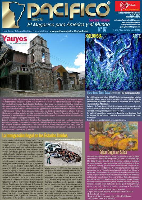 Revista Pacífico Nº 87 Turismo