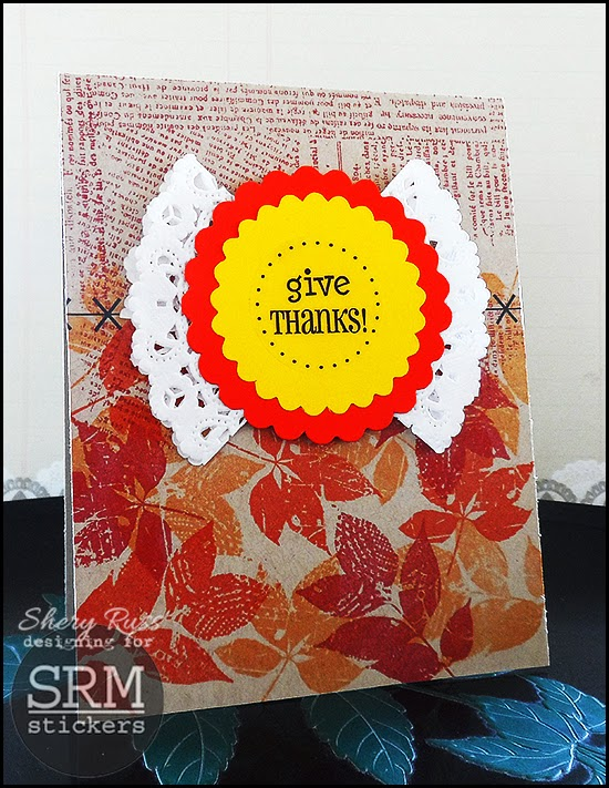 SRM Stickers Blog - Doily Love by Shery - #cards #doilies #stickers