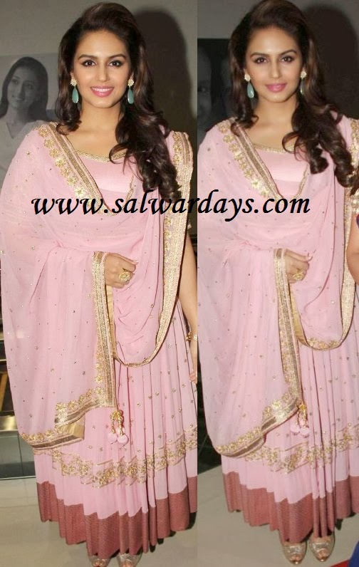 Indian Salwars and Indian Fashion: huma qureshi in pink ...